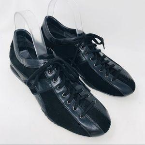 Cole Haan Nike Air Black Lace Up Sneakers Walking